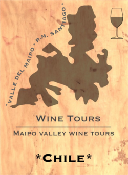 Logo composition of the Brand Maipo Valley Wine Tours